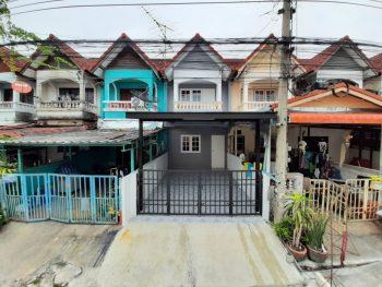 ขายทาวน์เฮ้าส์ราคาถูก ถนนเทพารักษ์ บางพลี บางบ่อ ม.วโรชา 4